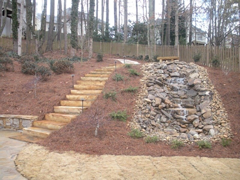 lanscape designTurn your hill into a work of art with landscaping services by North Georgia