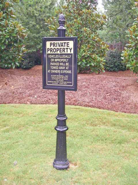 Alpharetta GA Private Property sign