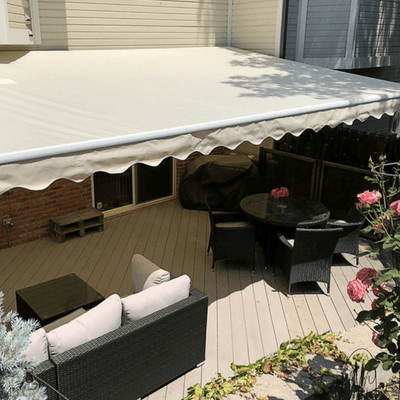 outdoor patio awning for shade