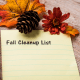 Fall: Clean out your gutters so they will properly drain.