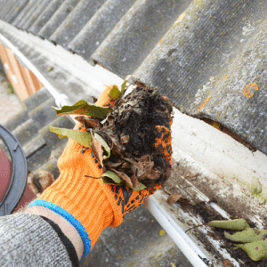 fall cleanup clean your gutters